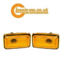 Amber Side Repeater Set Hella, Mk1 Mk2 Golf Jetta Caddy Scirocco Polo